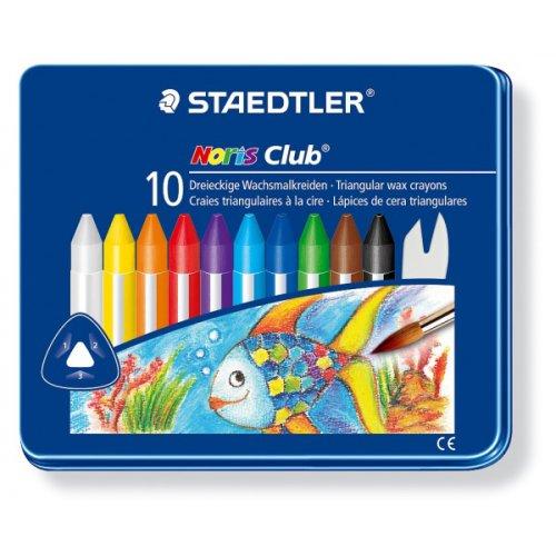 Trojhranné voskovky v kovovém pouzdře 10 barev