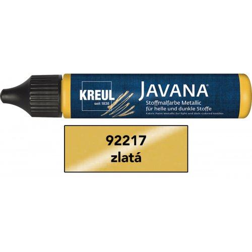 Barva na textil metalická JAVANA pen 29 ml zlatá