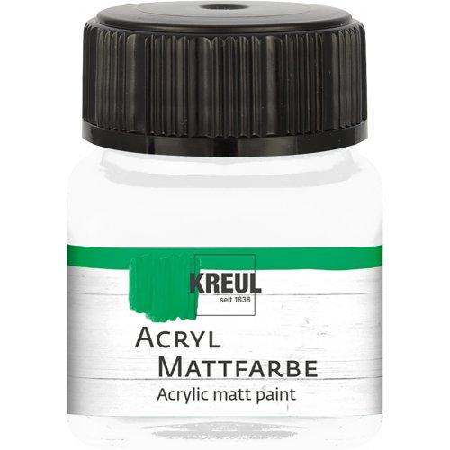 Akrylová barva matná KREUL 20 ml bílá