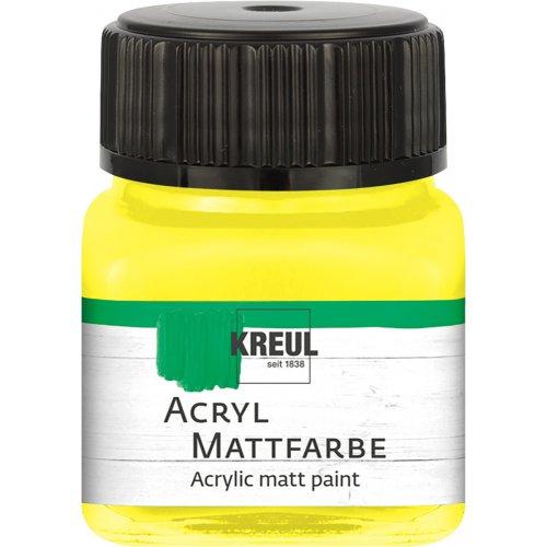 Akrylová barva matná KREUL 20 ml žlutá