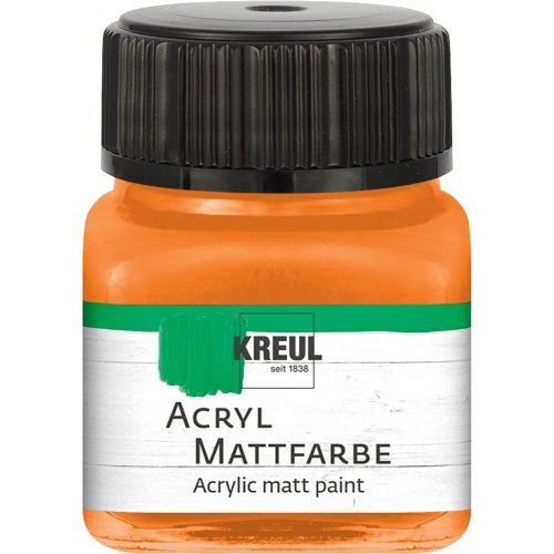 Akrylová barva matná KREUL 20 ml oranžová