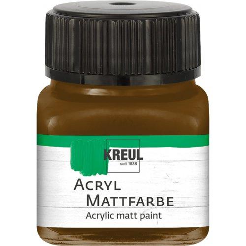Akrylová barva matná KREUL 20 ml tmavě hnědá