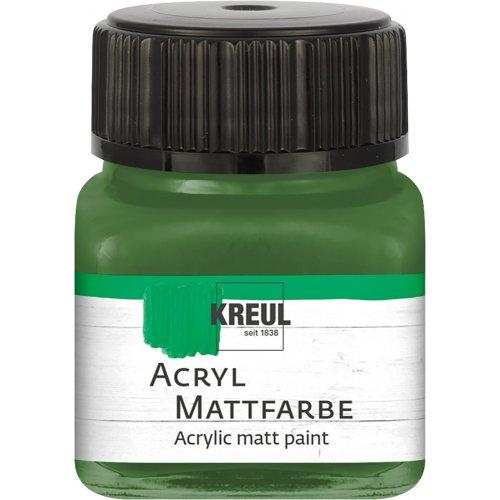 Akrylová barva matná KREUL 20 ml olivová zelená