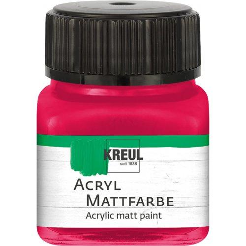Akrylová barva matná KREUL 20 ml karmínová