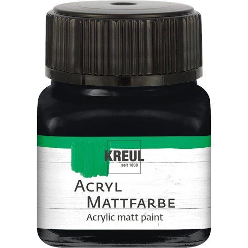 Akrylová barva matná KREUL 20 ml černá