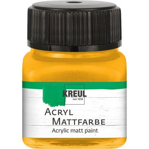 Akrylová barva matná KREUL 20 ml zlatožlutá