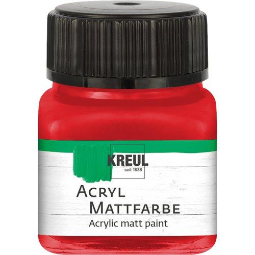 Akrylová barva matná KREUL 20 ml brilantní červená