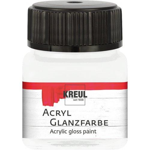 Akrylová barva lesklá KREUL 20 ml bílá