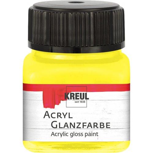 Akrylová barva lesklá KREUL 20 ml žlutá