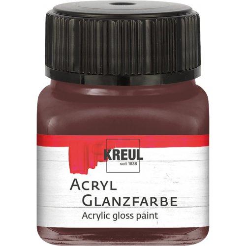 Akrylová barva lesklá KREUL 20 ml tmavě hnědá