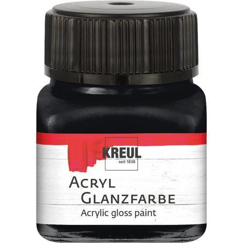 Akrylová barva lesklá KREUL 20 ml černá