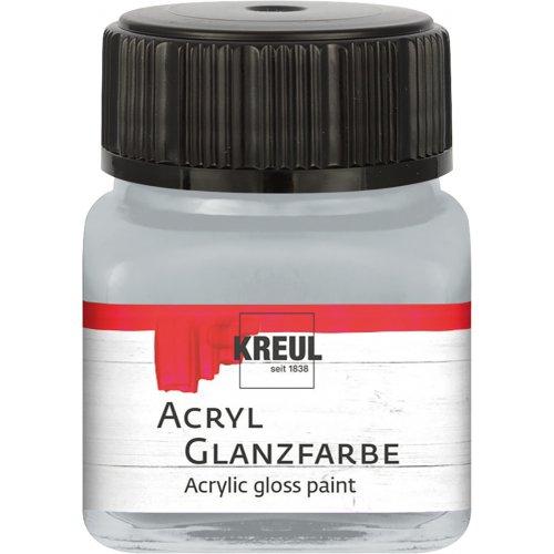 Akrylová barva lesklá KREUL 20 ml stříbrná