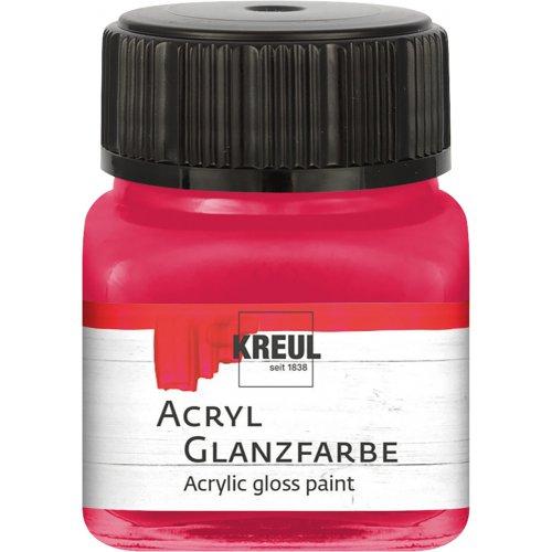 Akrylová barva lesklá KREUL 20 ml tmavě červená