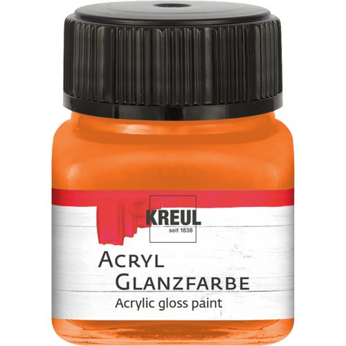 Akrylová barva lesklá KREUL 20 ml oranžová