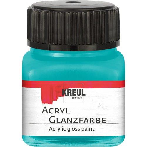 Akrylová barva lesklá KREUL 20 ml tyrkysová