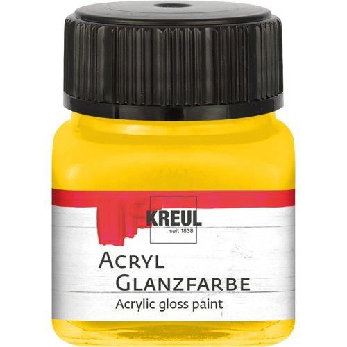 Akrylová barva lesklá KREUL 20 ml zlatožlutá