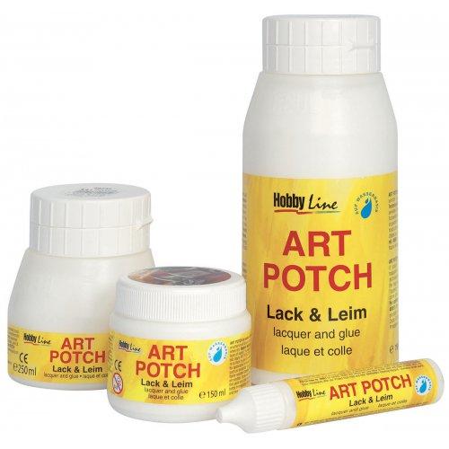 ART POTCH Lak & Lepidlo HOBBY LINE 150 ml - 49250_49251_49252_49253_ART POTCH Lack_Leim Gruppe.jpg
