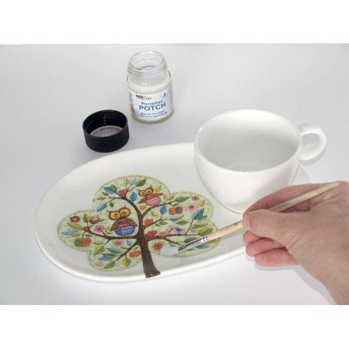 Lepidlo na porcelán Decoupage Porzellan POTCH 50 ml - 49450_Porzellan POTCH_Step 1.jpg