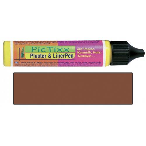Plustrovací pero PicTixx Pluster & LinerPen 29 ml hnědá