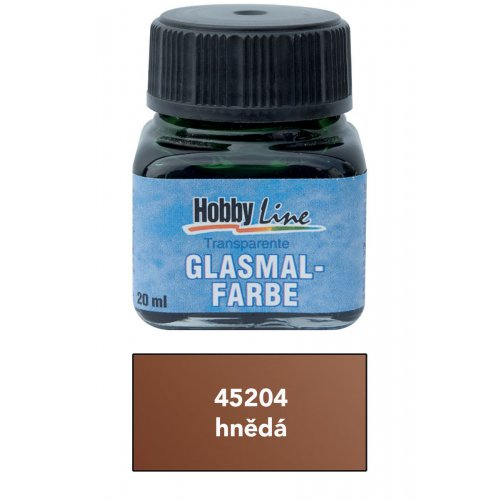 Barva na průhledné sklo HOBBY LINE 20 ml hnědá
