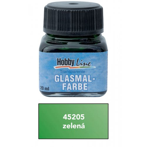 Barva na průhledné sklo HOBBY LINE 20 ml zelená