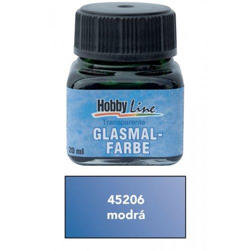 Barva na průhledné sklo HOBBY LINE 20 ml modrá