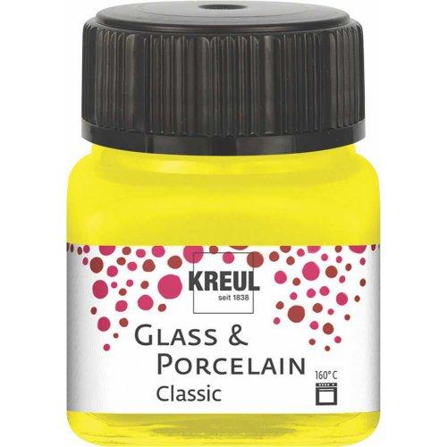 Barva na sklo a porcelán KREUL classic kanárkově žlutá 20 ml