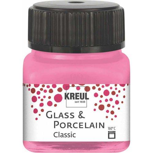 Barva na sklo a porcelán KREUL classic růžová 20 ml
