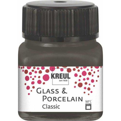 Barva na sklo a porcelán KREUL classic tmavě hnědá 20 ml
