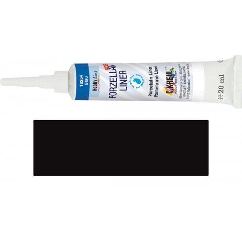 Kontura na porcelán HOBBY LINE černá 20 ml