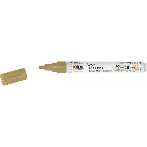 Lakový popisovač KREUL medium 2 - 4 mm zlatý