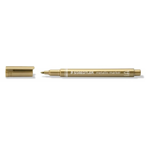 Metalický popisovač zlatý STAEDTLER 1-2 mm kuželový hrot - 8323-11_open.jpg