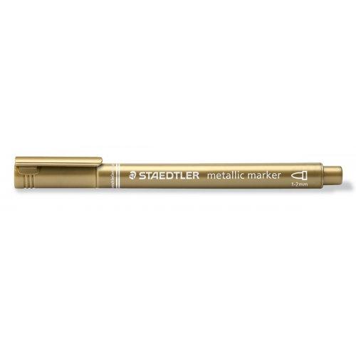 Metalický popisovač zlatý STAEDTLER 1-2 mm kuželový hrot