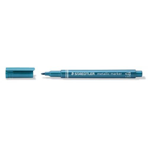 Metalický popisovač modrý STAEDTLER 1-2 mm kuželový hrot - 8323-373_open.jpg