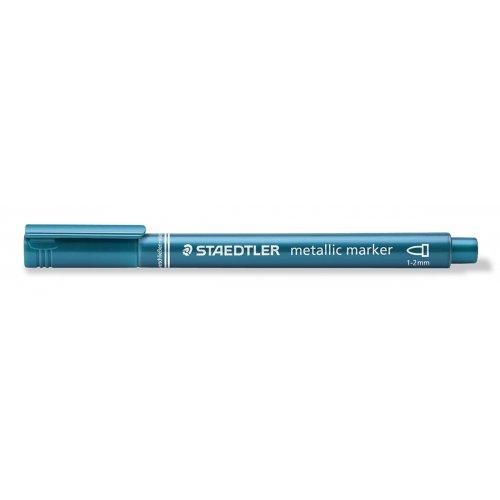 Metalický popisovač modrý STAEDTLER 1-2 mm kuželový hrot