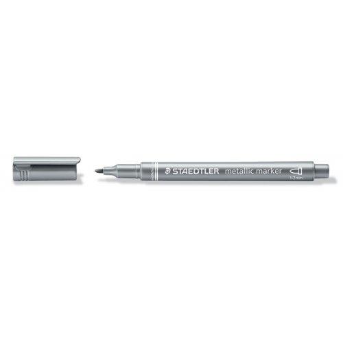 Metalický popisovač stříbrný STAEDTLER 1-2 mm kuželový hrot - 8323-81_open.jpg