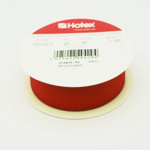 Jednobarevná stuha / 3m 25 mm červená
