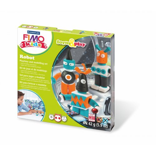 Sada Fimo kids Form & Play Roboti