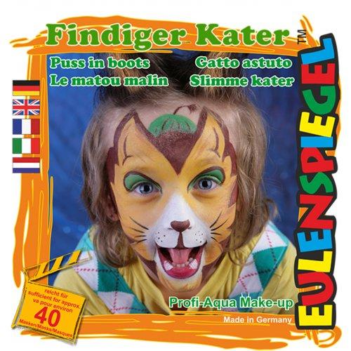 Sada barev na obličej - Vychytralá kočka