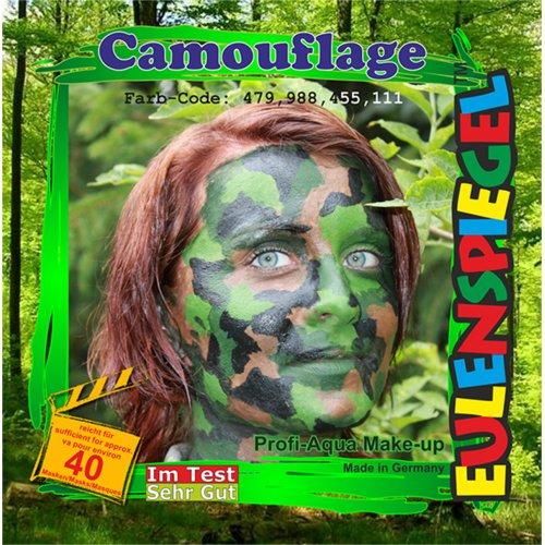 Sada barev na obličej - Vojenské maskování