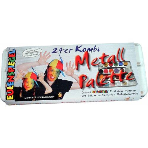 21 barev + 3 třpytky v kovové paletě