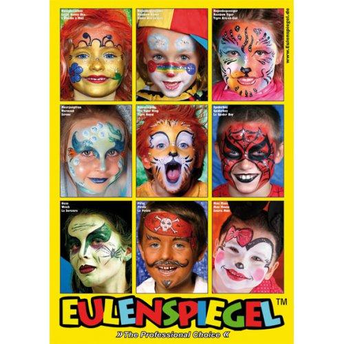 Plakát MALOVÁNÍ NA OBLIČEJ s 9 motivy