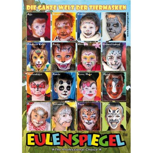 Plakát MALOVÁNÍ NA OBLIČEJ se 16 zvířecími motivy