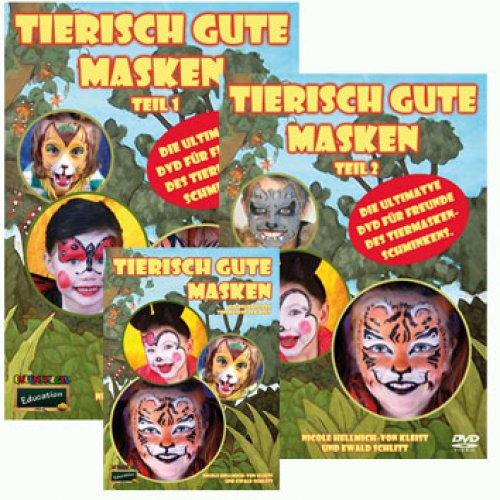 Brožura Malování na obličej - Zvířecí motivy s DVD