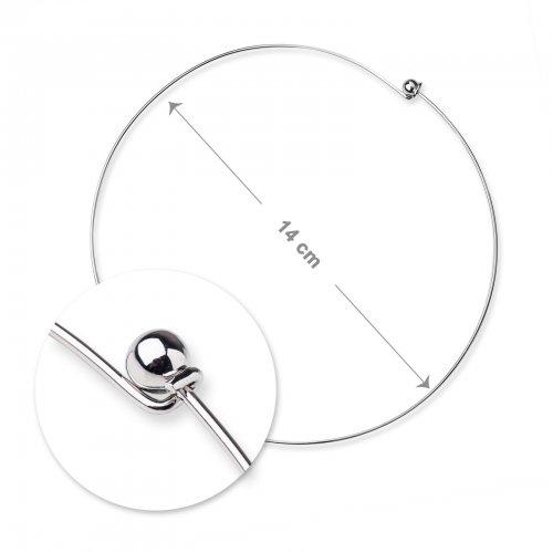 Obojková obruč 14cm platinová  1 ks v balení