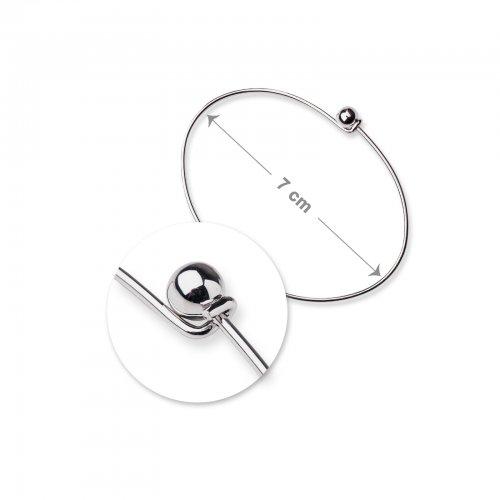 Náramková obruč 7cm platinová  1 ks v balení
