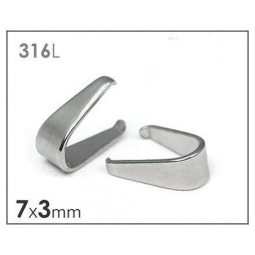 Chirurgická ocel 316 šlupna 3x7mm/3ks