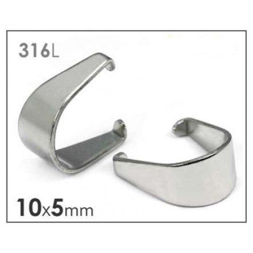 Chirurgická ocel 316 šlupna 10x5mm/3ks