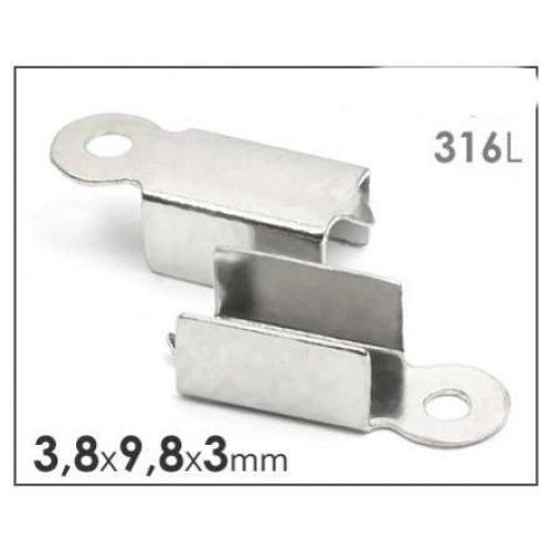 Chirurgická ocel 316 koncovka plochá 6ks