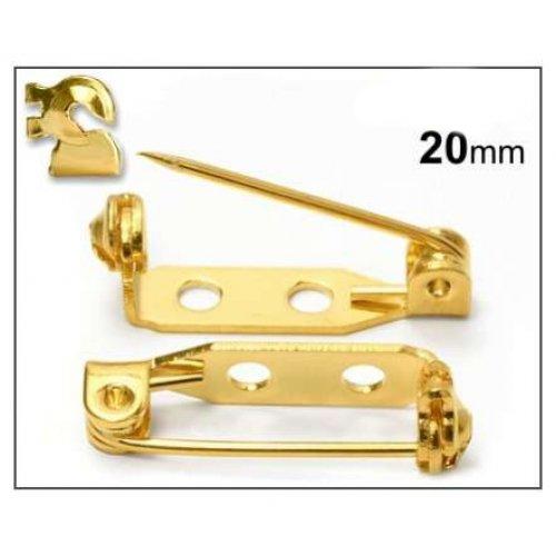 Brožový můstek 20mm/2ks zlato